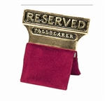 "Gold Plated ""Reserved Pallbearer"" Seat Signs"