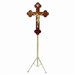 Greek Orthodox Crucifix on Adjustable Stand