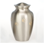 Paw Print Urn, Pewter Finish