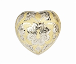 Gold Floral Keepsake Heart