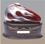 "Red with Silver Flame ""Born to Ride"" Urn"