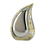 Silver & Gold Finish Tear Drop