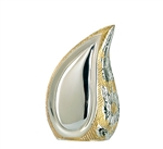 Silver & Gold Finish Tear Drop Keepsake