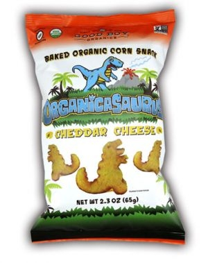 GREAT Kids Snacks - Organicasaurus - Cheddar Snack