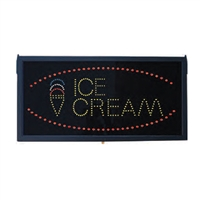 Lighted Ice Cream Sign