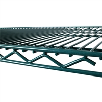 "<b>SES</b> Green Epoxy Wire Shelf <b>14"" x 42""</b>"