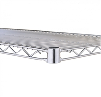 "<b>SES</b> Chrome Wire Shelf <b>14"" x 72""</b>"