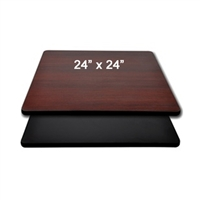 "<b>SES</b> 24"" x 24"" Black & Mahogany Table Top"
