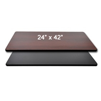 "<b>SES</b> 24"" x 42"" Black & Mahogany Table Top"