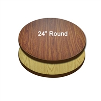 "<b>SES</b> 24"" Round Oak & Walnut Table Top"