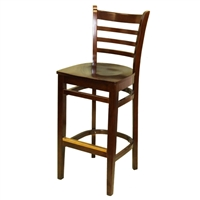 "Ladder Back Barstool 30"" Mahogany Finish"