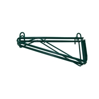 "<b>SES</b> Green Epoxy Double Wire Wall Shelf Bracket <b>14""</b>"