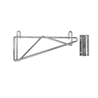 "<b>SES</b> Chrome Single Wire Wall Shelf Bracket <b>14""</b>"