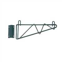 "<b>SES</b> Green Epoxy Single Wire Wall Shelf Bracket <b>14""</b>"