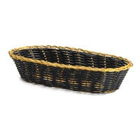 <b>Tablecraft</b> Black Oblong Woven Basket