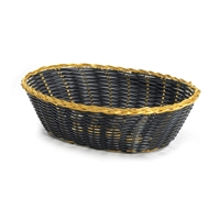 <b>Tablecraft</b> Black Oval Woven Basket