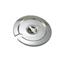 <b>Winco</b> Cover for <b>4 qt.</b> Round Stainless Steel Inset