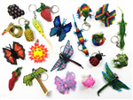 Assortment - Zipper Charm - Butterflies, Dragonflies, Garden