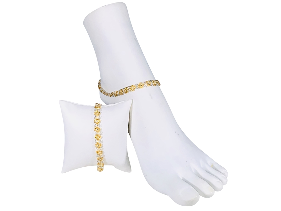 Anklet - Flower Chain Gold/Silver
