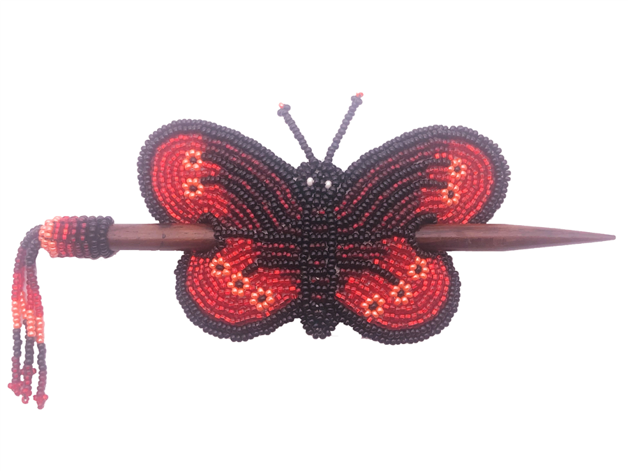 Barrette - Butterfly Red/Black