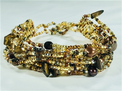 12-Strand Gold Copper Bracelet