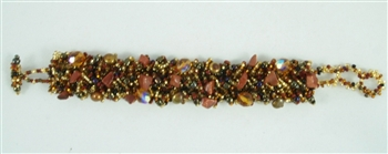 Bracelet - Boa - GoldBrown