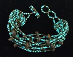 Bracelet - Roasted Coffee Beans Turquoise