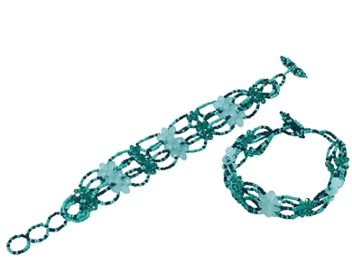 Bracelet 77 Crystals Turquoise