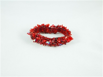Caterpillar Bracelet-Magnetic - Red