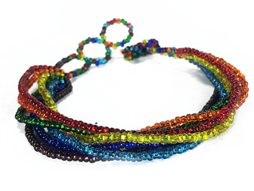 Friendship Bracelet, Rainbow, Strands