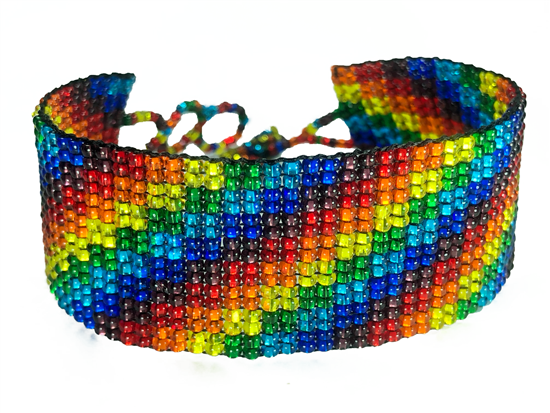 Friendship Bracelet, Rainbow, Loom