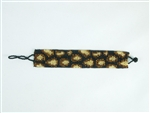 "1"" Friendship Bracelet - Leopard Black/Gold/Amber"