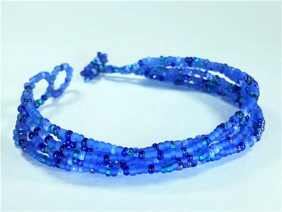 Friendship Bracelet, Turquoise/Blue, Strands