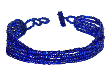 Friendship Bracelet, Blue, Strands