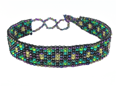 Friendship Bracelet, Iridescent Purple/Mixed, Loom