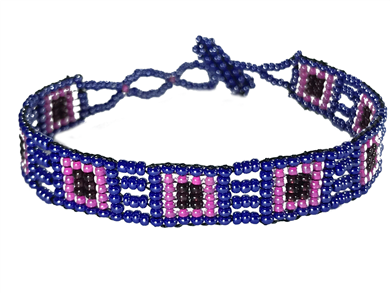 Friendship Bracelet, Pink/Purple, Loom
