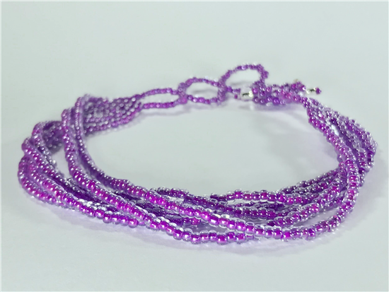 Friendship Bracelet, Pink, Strands