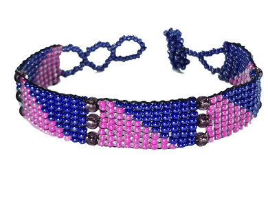 Friendship Bracelet, Pink/Purple, Panels