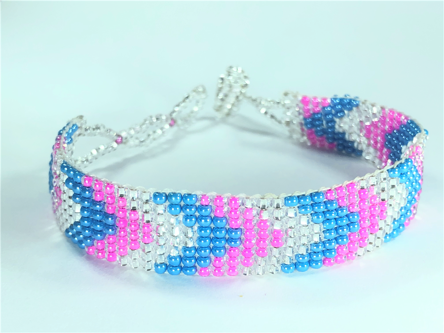 Friendship Bracelet, Pink/Mixed, Loom