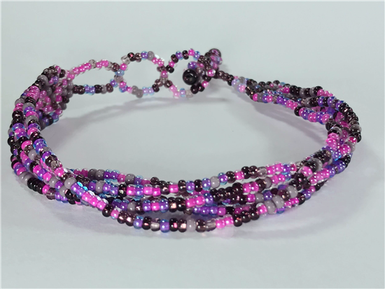 Friendship Bracelet, Pink/Purple, Strands
