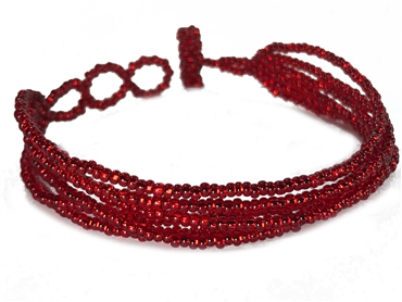 Friendship Bracelet, Red, Strands