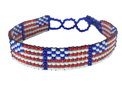 Friendship Bracelet, American Flag