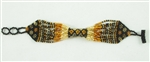 Bracelet Rope - Amber/Black/Gold/Coffee