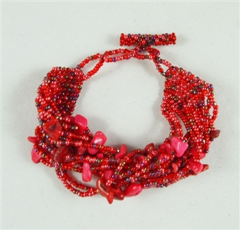 Simply Stones Coral Red Bracelet