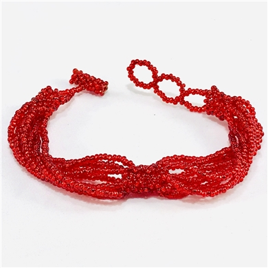 Bracelet Twist - Cherry Red