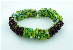 Caterpillar Loop Bracelet - Magnetic - Lime-Grape
