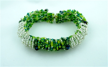 Caterpillar Loop Bracelet - Magnetic - Lime-Silver