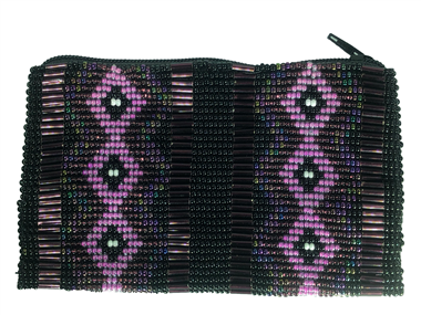 Coin Bag or Rosary Bead Bag - Diamond - Purple/Pink