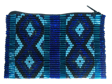 Coin Bag or Rosary Bead Bag - Diamond Blue