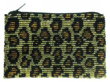 Coin Bag or Rosary Bead Bag - Leopard